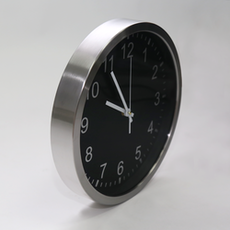 Chrome Frame Wall Clock