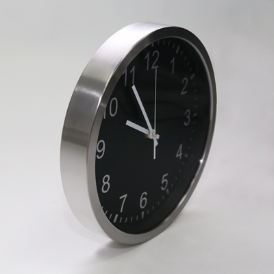 Chrome Frame Wall Clock - Image 2
