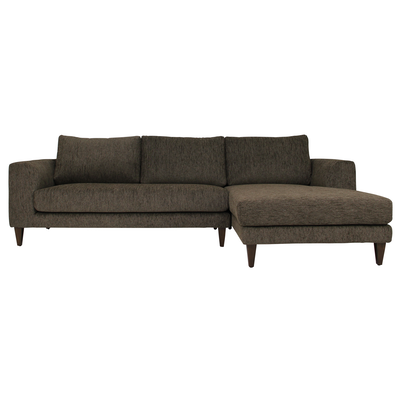Leila L Shape Sofa - Rustic Brown