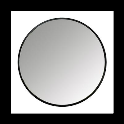 Hub Round Mirror 91 cm - Bezel Black - Image 1