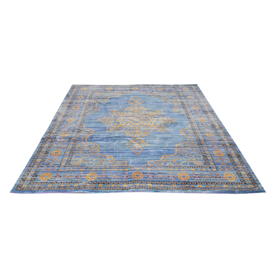 Aqua Silk Rug - Sea Blue