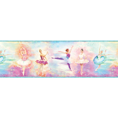 Blue Ballet Portrait Border Wallpaper
