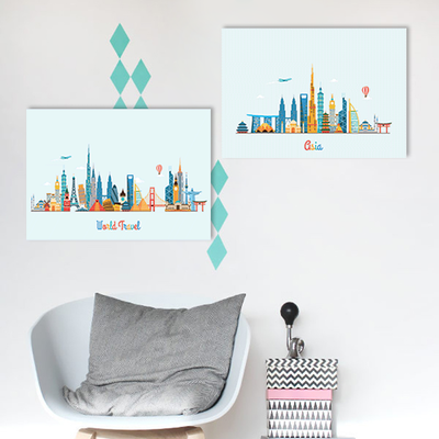 World Travel Print  Poster Bundle