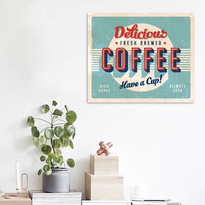 Fresh Brewed Coffee Print Poster