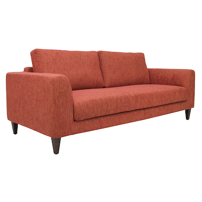 Leila 3 Seater Sofa - Rustic Red - Image 2