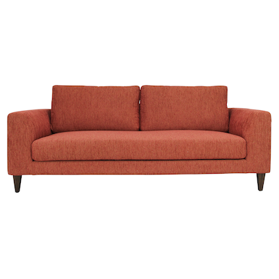 Leila 3 Seater Sofa - Rustic Red - Image 1