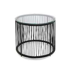 Acapulco Round Side Table - Black