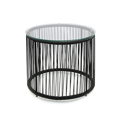 Acapulco Round Side Table - Black - Image 1