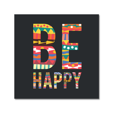 Be Happy Print Poster