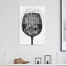 Drink Wine Print Poster