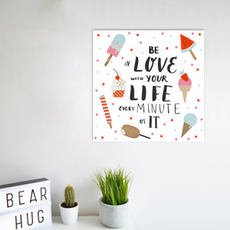 Be in Love Print Poster