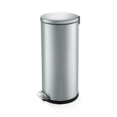 Luna Soft Close Step Bin 30L - Silver