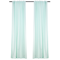 Reysha Cotton Curtain (Set of 2) - Mint