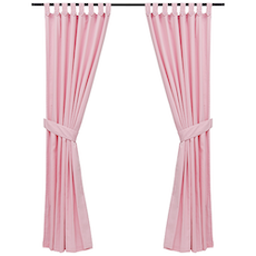 Reysha Cotton Curtain (Set of 2) - Pink