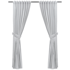 Reysha Cotton Curtain (Set of 2) - Light Grey