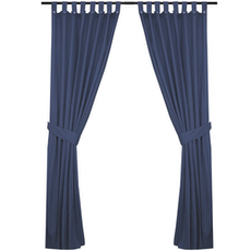 Reysha Cotton Curtain (Set of 2) - Blue