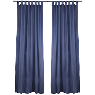 Reysha Cotton Curtain (Set of 2) - Blue - Image 2