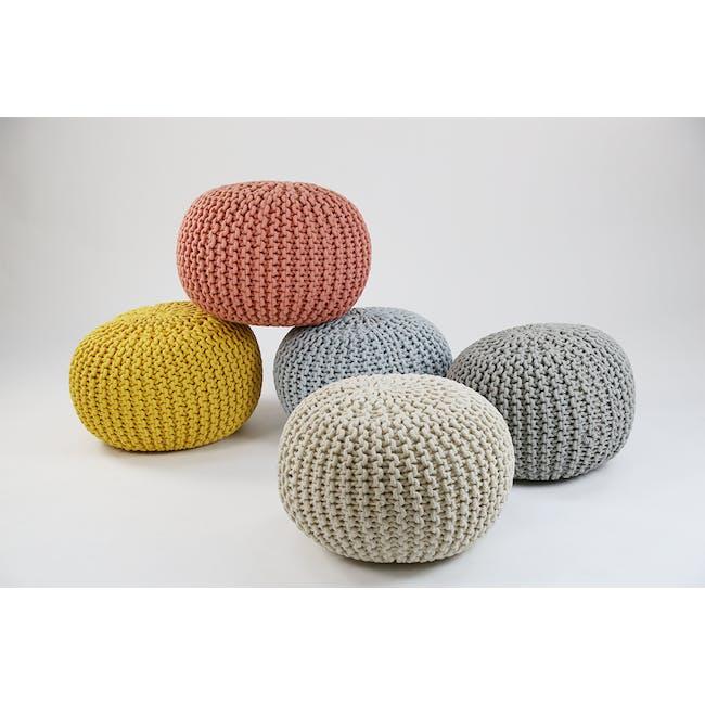 Moana Knitted Pouf - Yellow - 1