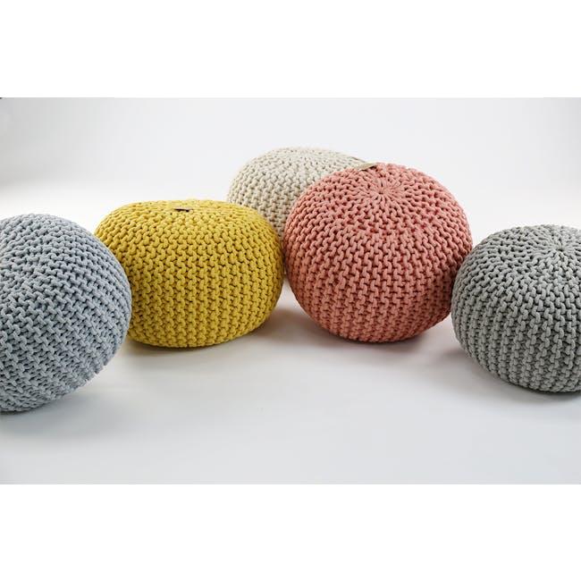 Moana Knitted Pouf - Yellow - 3