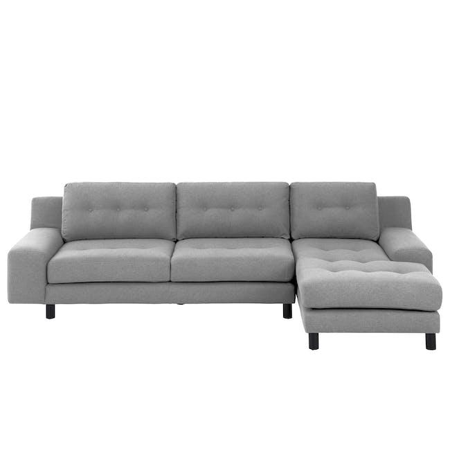 Wyatt L Shape Sofa - Slate (Fabric) - 0