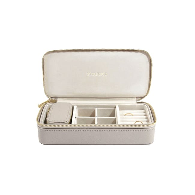Stackers Large Travel Jewellery Box - Taupe - 0