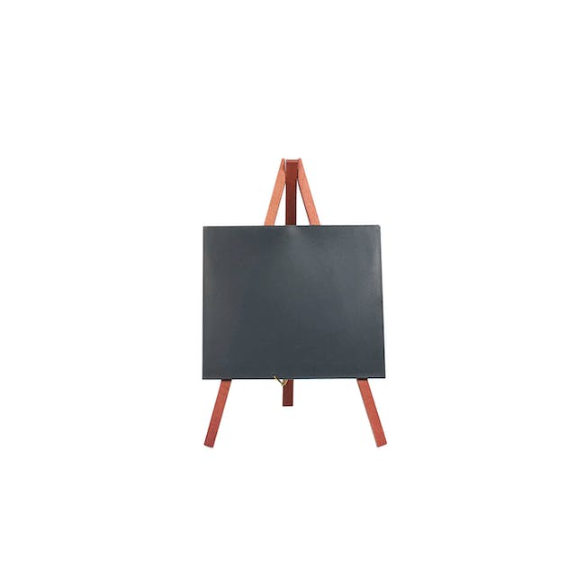 Securit Rubber Wood Table Chalk with Mini Easel Stand - 0
