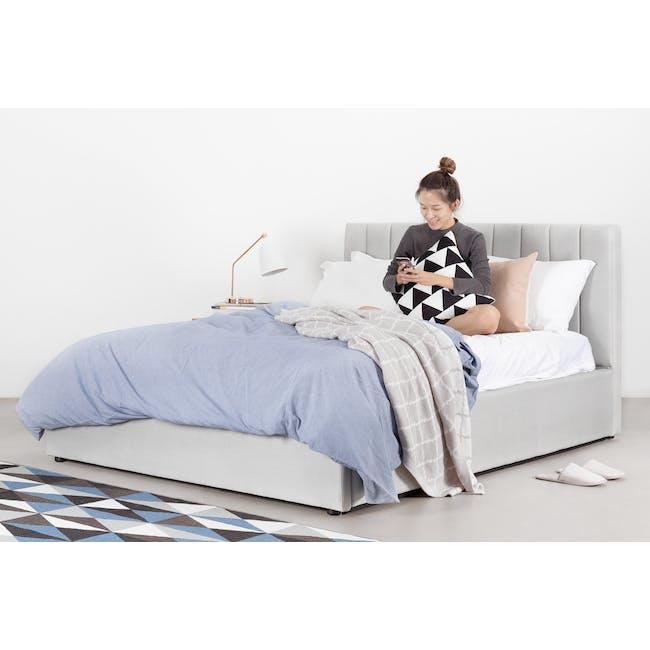 Audrey Queen Storage Bed - Hailstorm (Fabric) - 4