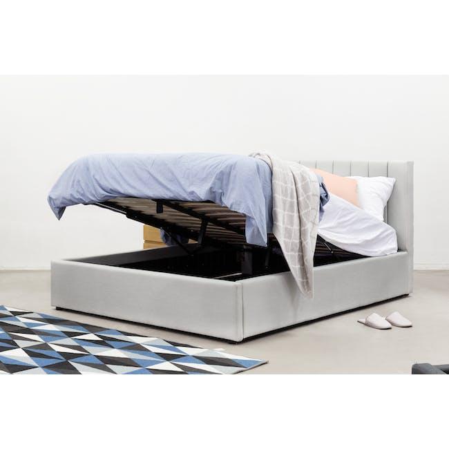 Audrey Queen Storage Bed - Hailstorm (Fabric) - 3
