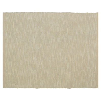 Rectangular Cotton Placemats (Set of 6) - Beige