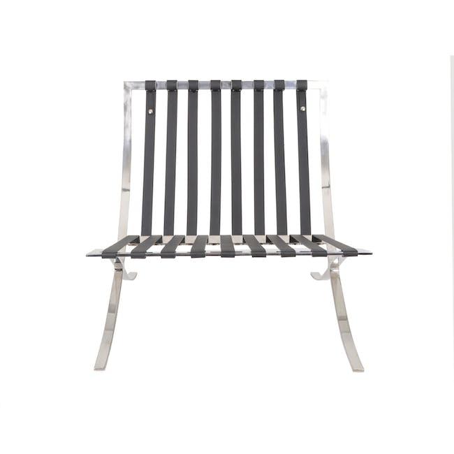 Barcelona Chair with Barcelona Ottoman - Black (Genuine Cowhide) - 12