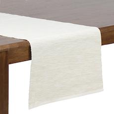 Rectangular Cotton Table Runner - White