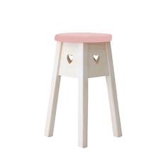 Miranda Heart Stool - Pink