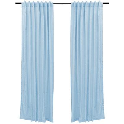 Reysha Cotton Curtain (Set of 2) - Powder Blue