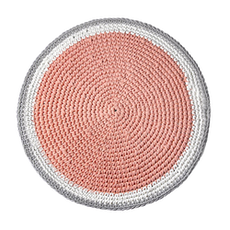 Crochet Round Rug - Coral