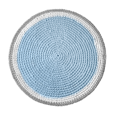 Crochet Round Rug - Soft Blue