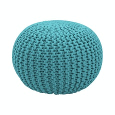 Knitted Pouffe - Turquoise