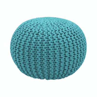 Moana Knitted Pouffe - Turquoise