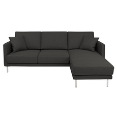 Sydney L-Shape Sofa - Carbon Grey