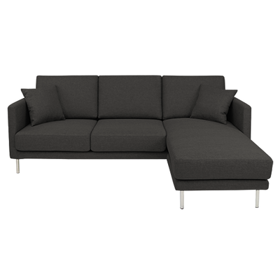Olivia L Shape Sofa - Carbon Grey - Image 1