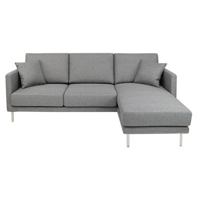 Olivia L Shape Sofa - Granite Rock