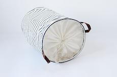 Drawstring Laundry Basket - PU Handle