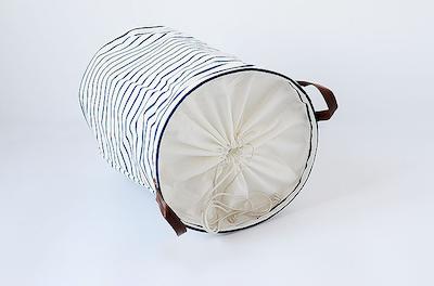 Drawstring Laundry Basket - PU Handle - Image 2