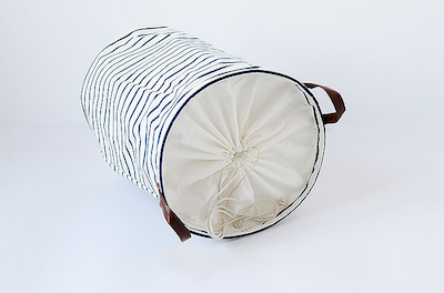 Drawstring Laundry Basket - PU Handle