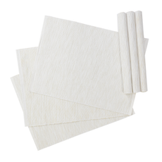 Rectangular Cotton Placemats (Set of 6) - White