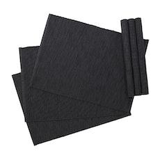 Rectangular Cotton Placemats (Set of 6) - Dark Grey