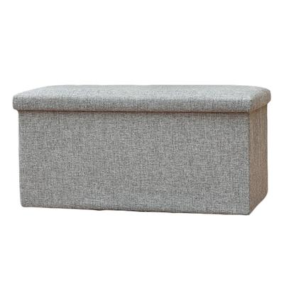 Domo Foldable Storage Bench Ottoman (Set of 2) - Grey