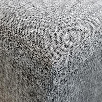 Domo Foldable Storage Bench Ottoman (Set of 2) - Grey - Image 2