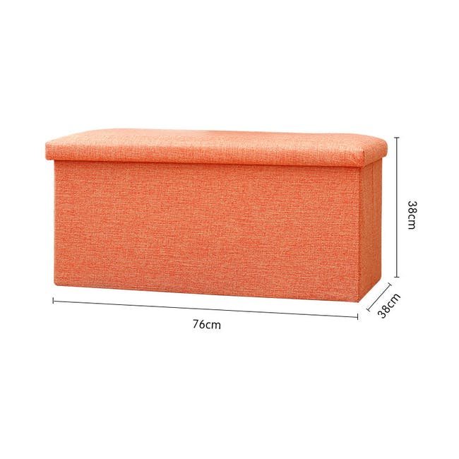 Domo Foldable Storage Bench Ottoman - Blue - 5