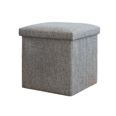 ... Domo Foldable Storage Cube Ottoman (Set of 2) - Grey - Buy Stools Online In Singapore HipVan