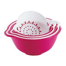 6pcs Strainer & Bowl Set - Pink